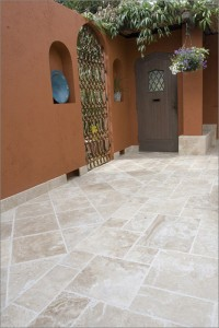travertine courtyard 200x300 Travertine Tile: From Ancient Rome to Your Home