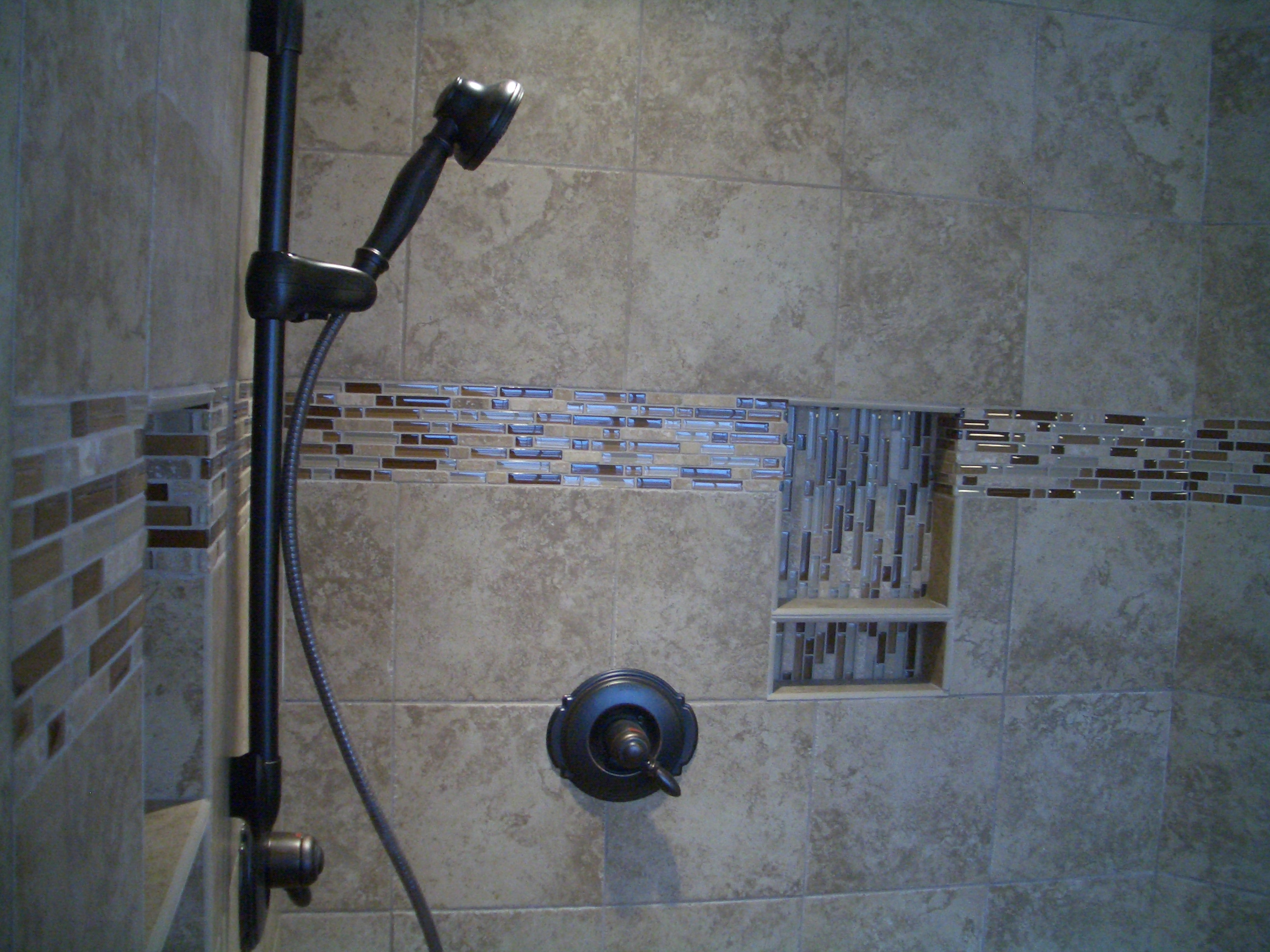 glass tile accents in bathroom home design idea bathroom designs using glass tiles 23242