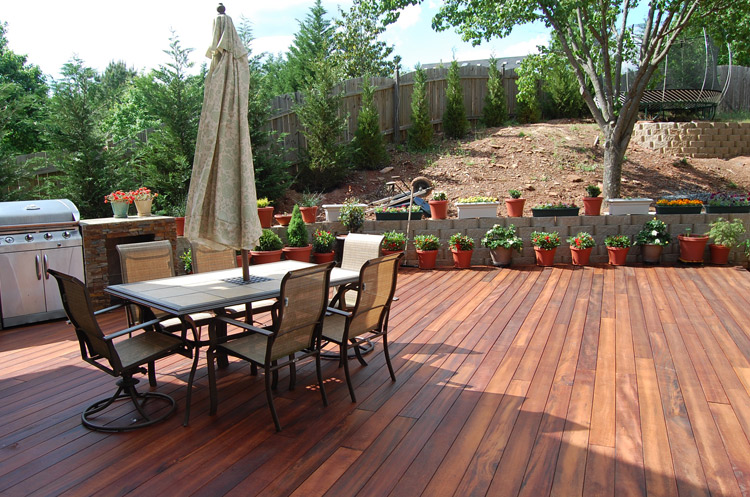 Tigerwood wood decking Revitalizing Your Wood Deck In Springtime