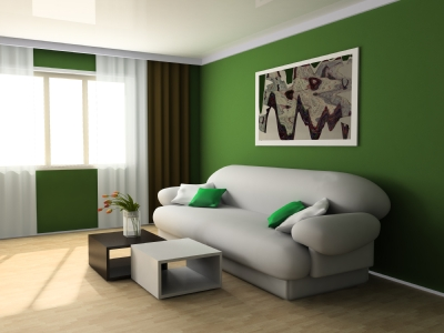 Living Room on Green Living Room Color Psychology  Green