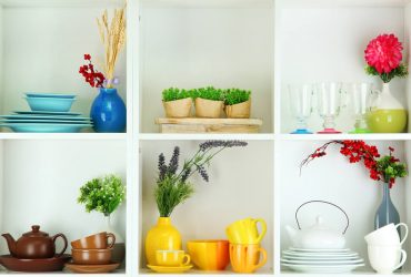 kitchen storage shelving dishes
