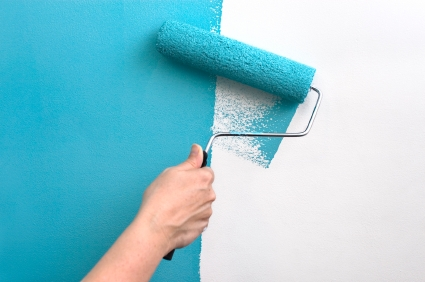 paint a wall blue Choosing Non Toxic Paint For Good Health