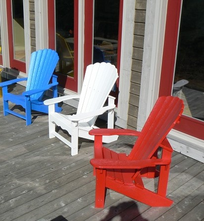 Adirondack Chairs on Red White And Blue Adirondack Chairs E1340738224605 Happy July 4th