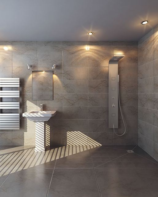 Bathroom remodeler from the uk michael smith is here made for What s a wet room