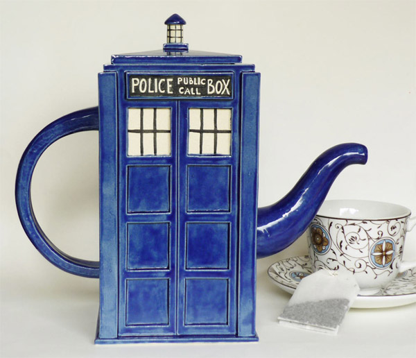 TARDIS tea pot Doctor Who Inspired Home Decor