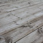 old wood deck surface