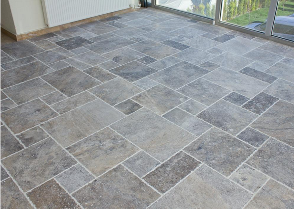 Heres An Example Of Silver Travertine In Antique Pattern