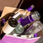after the party wine bottles clean up
