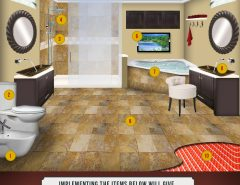 Glass tiles as accents in tile installations for Bathroom remodel under 10000