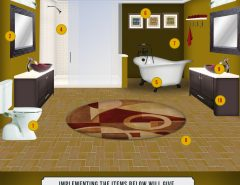 4 tips to modernize a bathroom for Bathroom remodel 3000