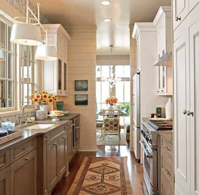 5 ways to create a successful galley style kitchen layout - Galley Style Kitchen