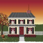 House in Autumn Illustration 2
