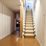 basement stairs cork floors
