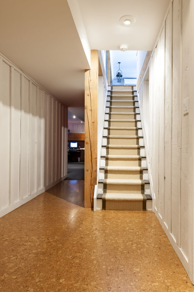 4 reasons to finish your basement for Is cork flooring good for basements