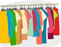clothes closet illustration
