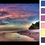 cloudy sunset color palette thumb