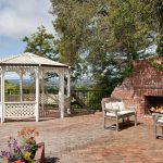 gazebo patio outdoor fireplace