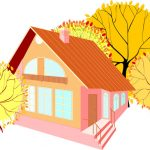 house in autumn illustration