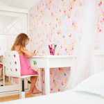 kids bedroom little girl desk drawing