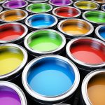 paint cans group