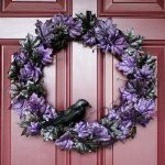 Halloween decor grim wreath