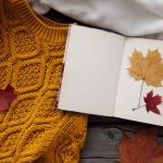 autumn colors sweater book leaves