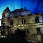 haunted house blue light