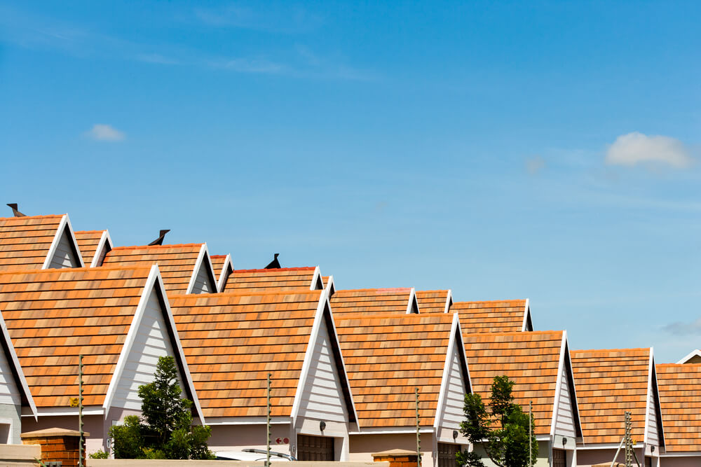 row of rooftrops
