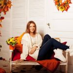 autumn outdoor room woman