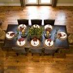 dining room table wood floors