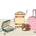 guests luggage illustration