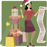 holiday giving shopping list illustration