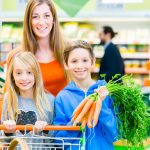 shopping for groceries with kids