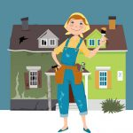 Home remodeler illustration