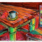kitchen table illustration