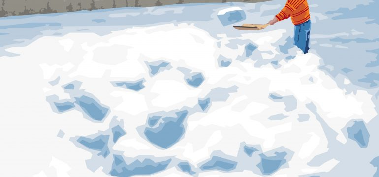 shoveling snow illustration
