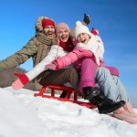 winter family sled