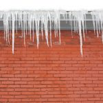 brick house eaves icicles