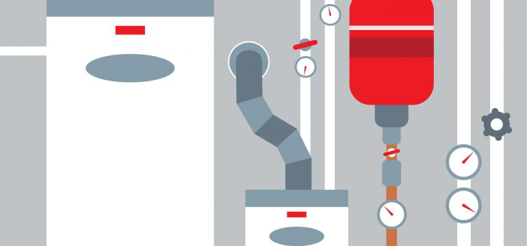 furnace and hot water heater illustration