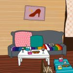 lived in living room illustration