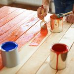 painting wood table
