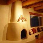 Joan Duncan taos fireplace