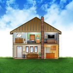 home crossection layout illustration