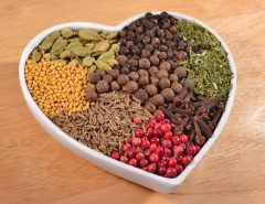 spices heart shaped bowl