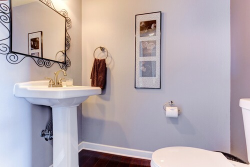 small bathroom lavender pedestal sink