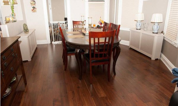 acacia hardwood flooring dining room
