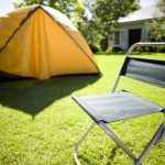 camping tent chair backyard
