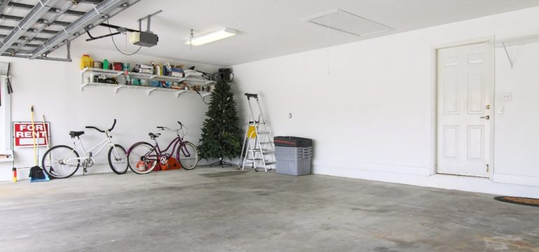 garage uncluttered