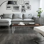 Light gray laminate flooring
