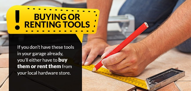 Buying or renting tools